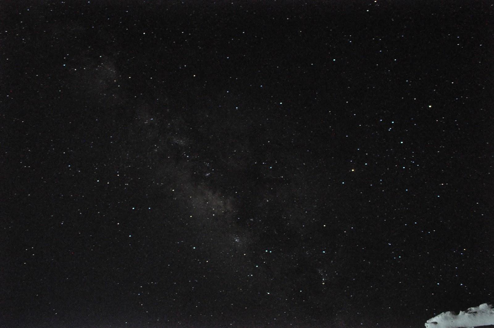 Céu estrelado no Saara