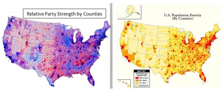 Data Driven Viewpoints Rural Republicans VS The Urban Bubble - Map of us democratic vs republican