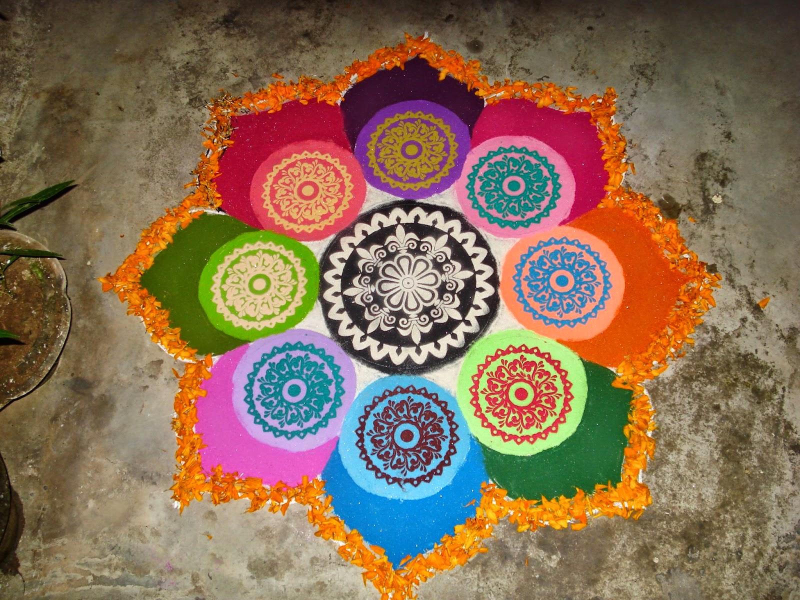 Makar Sankranti And Pongal Rangoli Patterns
