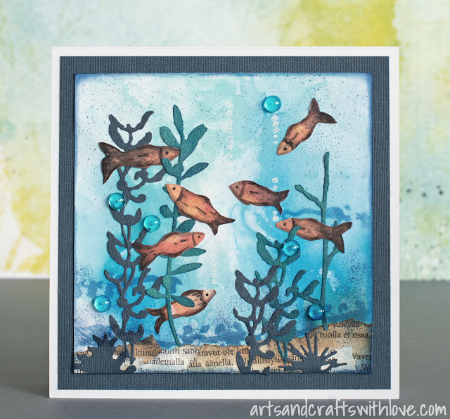 Cardmaking: Collage card for June '15 Mixed Media Card Challenge