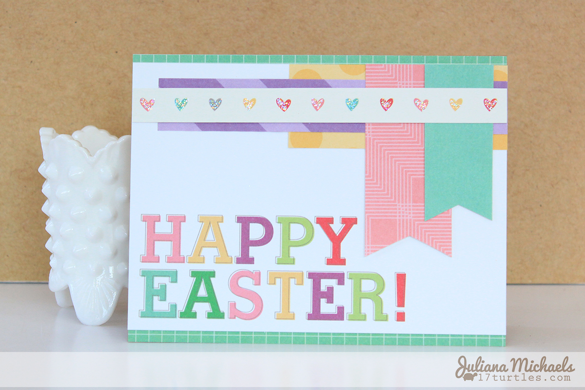 Happy Easter card by Juliana Michaels for Elle's Studio April Kit