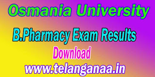 Osmania University B.Pharmacy Exam Results Download