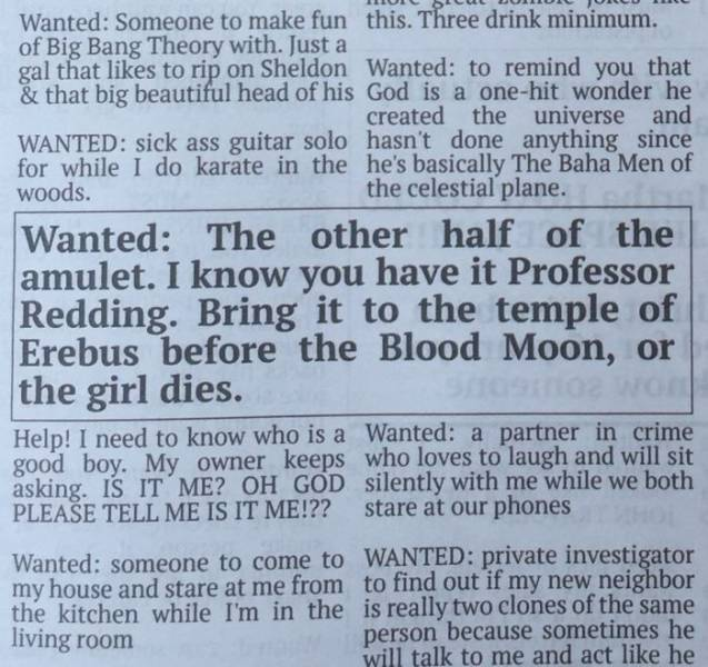 funny newspaper classifieds 3