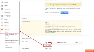 Bagaimana Cara Mengganti Email Blog