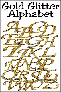 Every day deserves a little bit of glitter and gold.  Create fun scrapbook pages and crafting projects with this free gold glitter alphabet.