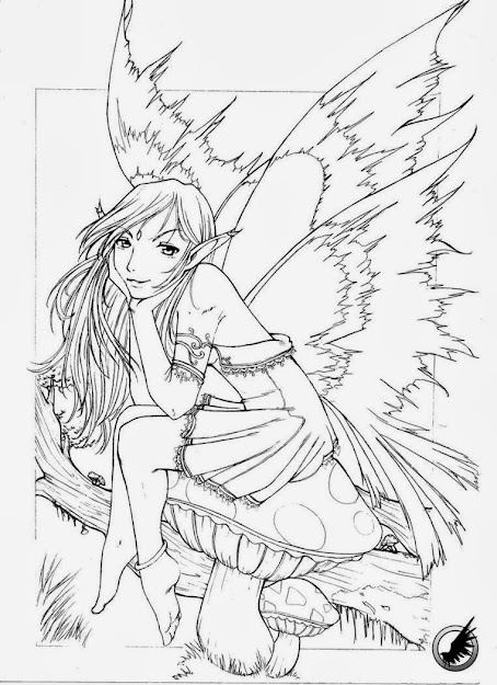 Free Printable Coloring Pages For Adults Fairies Using Magic Stick