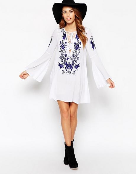 vestido de moda corto blanco