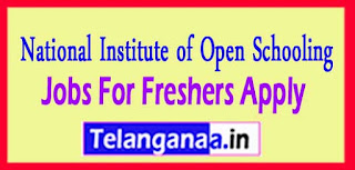 National Institute of Open Schooling NIOS Recruitment Notification 2017 Last Date 05-05-2017