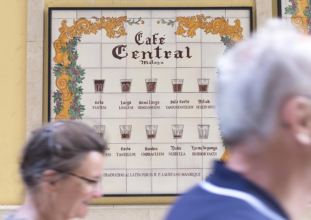 formas de tomar café en Málaga