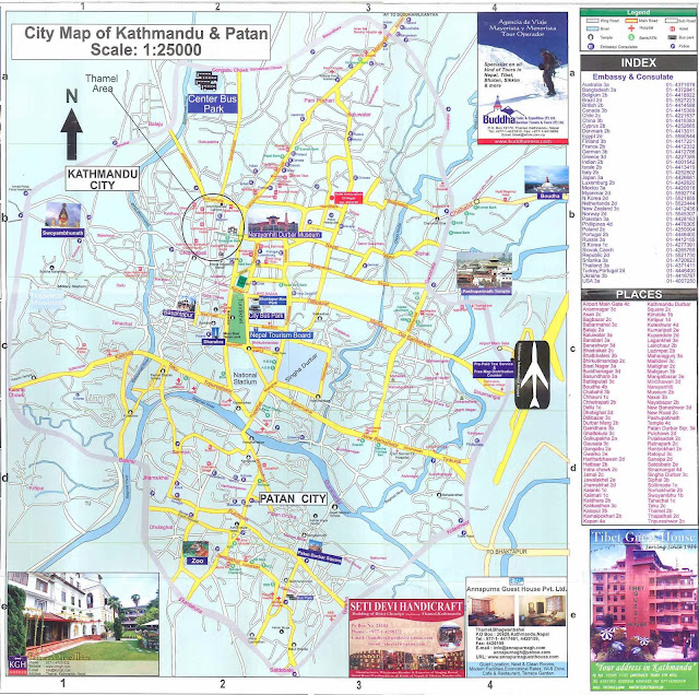 Mapas da cidade de Catmandu – Nepal