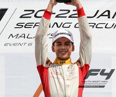 Biodata Penuh Pelumba Formula 4 Isyraf Danish
