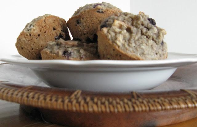 gluten free blueberry apple muffins