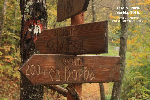 Деревянный указатель в национальном парке