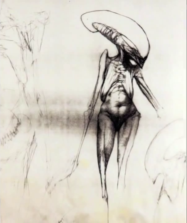 Alien Explorations: Chris Cunningham / Halls' Newborn Alien concepts