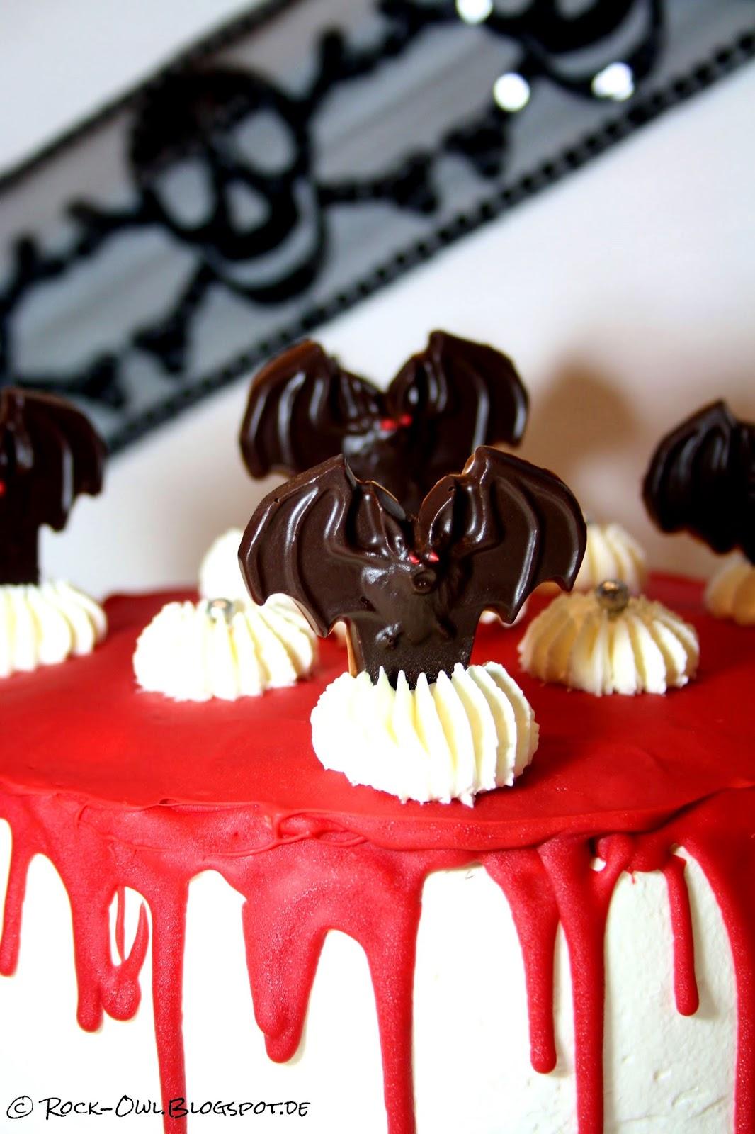 Rock And Owl Blog Halloween Bloody Bat Dripping Cake