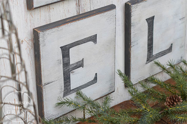 Diy Black And White Distressed Christmas Sign Anderson Grant