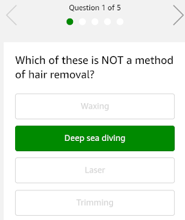 Which of these is NOT a method of hair removal?""