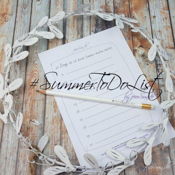 Bucket Liste Sommer