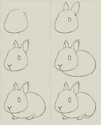 step bunny draw simple easy paint learn
