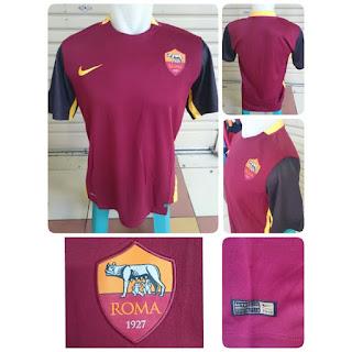 gambar detail terbaru jersey musim depan liga italia Jersey As Roma home terbaru musim 2015/2016