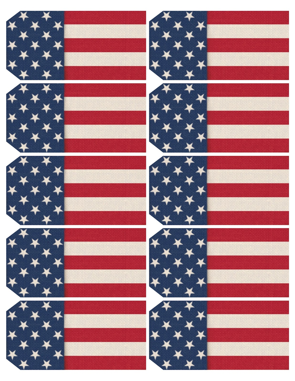 This is a graphic of Fabulous Free Printable American Flag