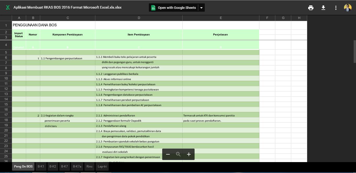Aplikasi Rkas Bos Plus Aplikasi Buku Kas Umum Otomatis