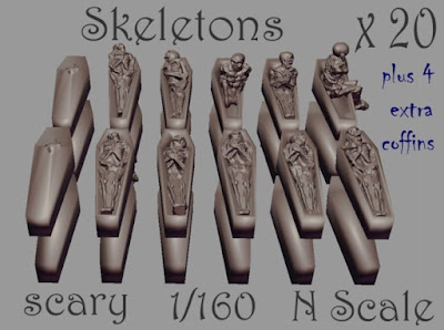 1-160 X20 Skeleton In Coffin picture 1