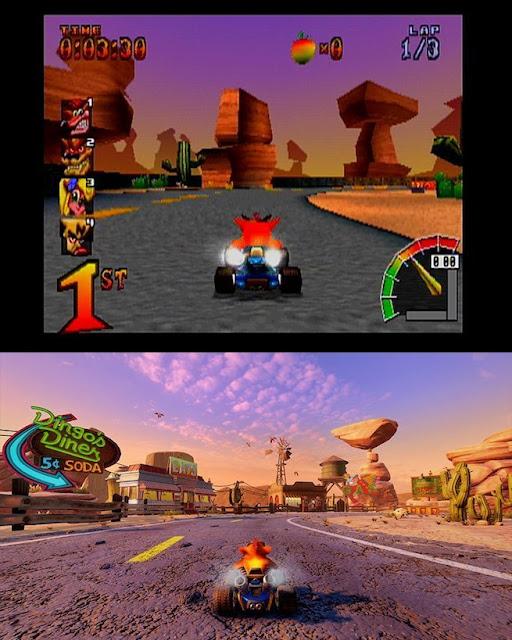 الكشف عن صور لمقارنة جودة رسومات لعبة Crash Team Racing بين نسخة الريميك و الإصدار الأصلي ، تطور خرافي ..