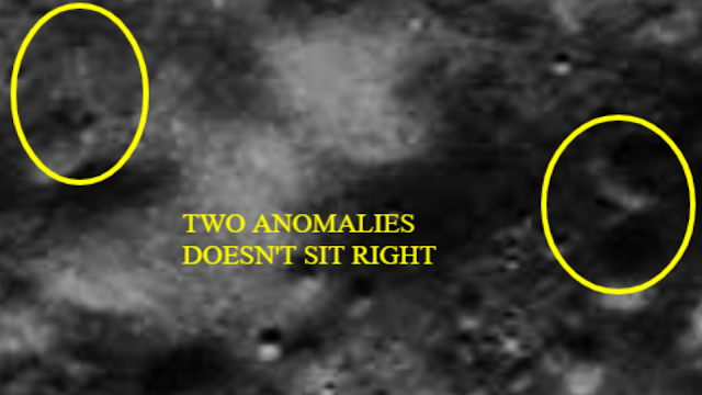 Two anomalies are on the Moon.