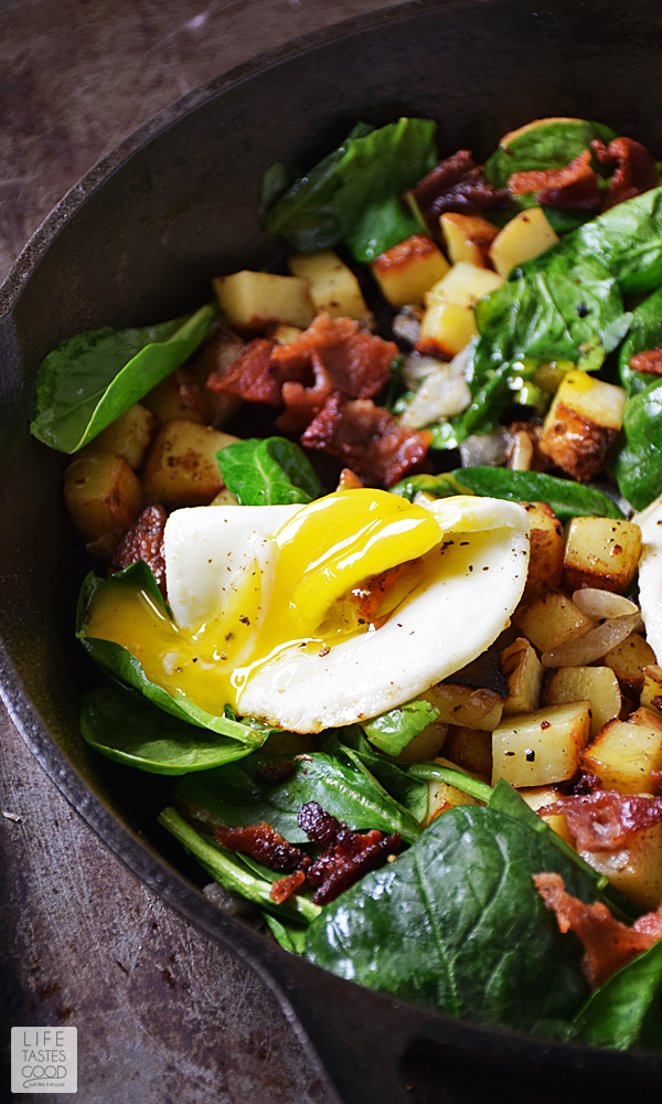 Whether you call them home fries, hash browns, or Skillet Breakfast Potatoes, crispy potatoes are an essential side dish in a hearty country-style breakfast. #LTGrecipes #SundaySupper