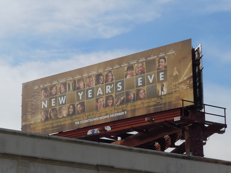 New Year's Eve billboard
