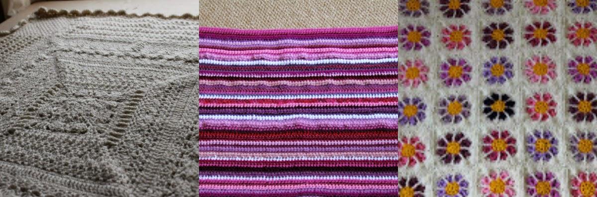 crochet baby blankets collage || www.embellishedelephant.blogspot.co.uk