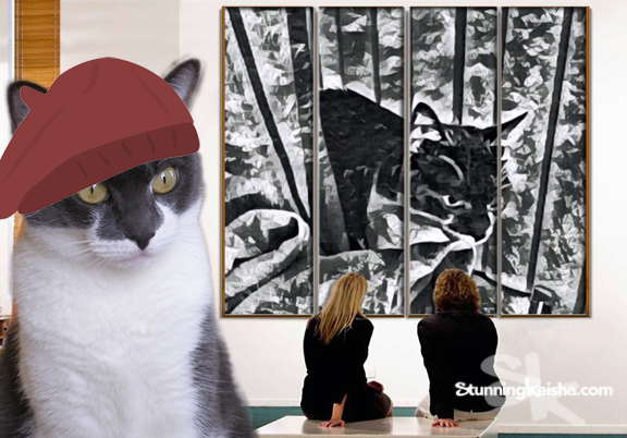 Artsy Fartsy Caturday With a Message