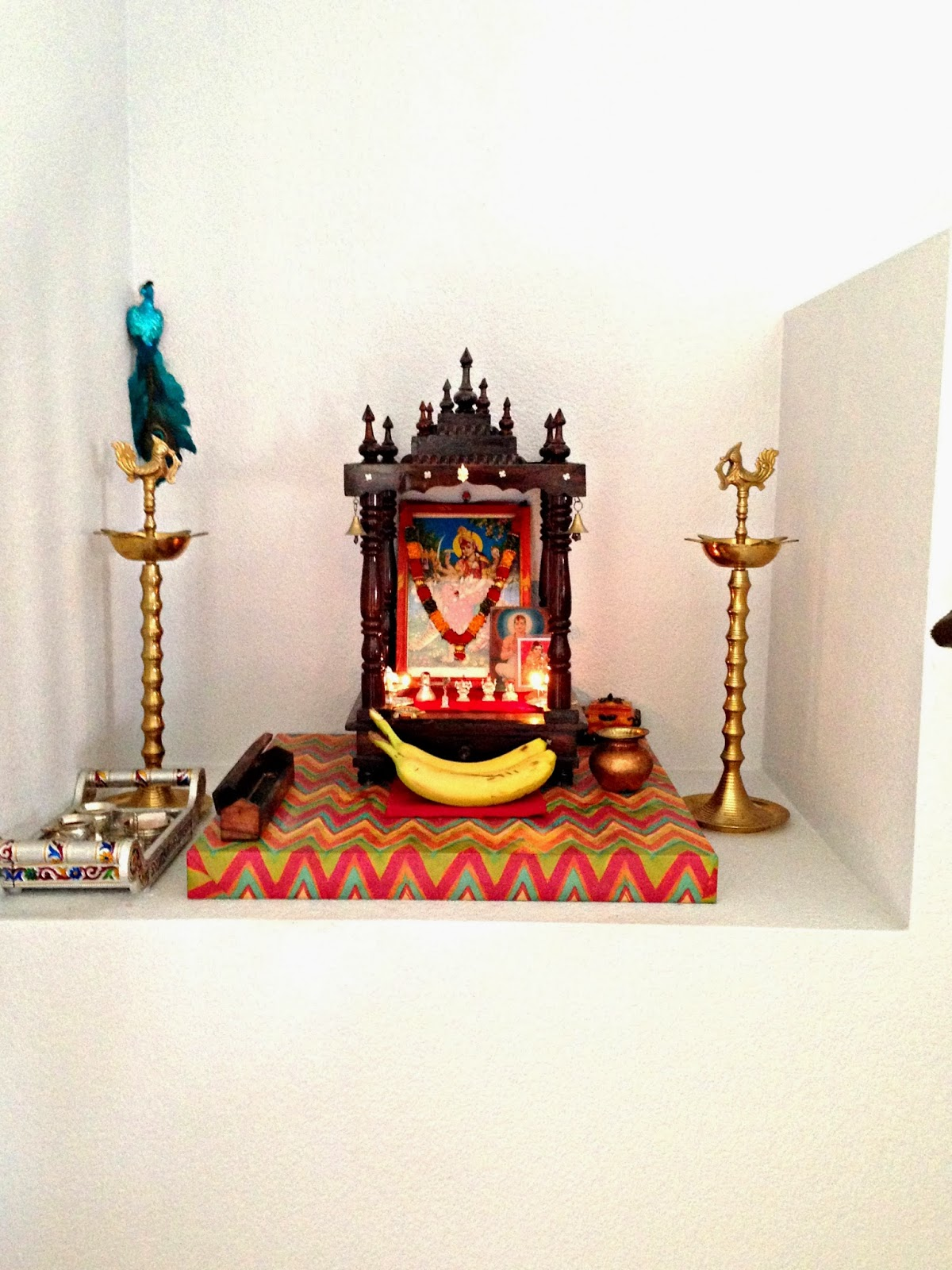 Pictures Of Beautifully Decorated Homes Weekend Tweaks My Pooja Space In Our Home