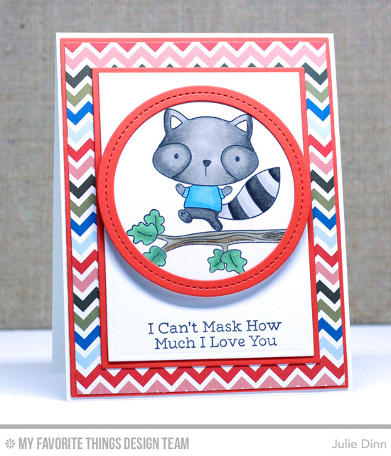 Handmade card from Julie Dinn featuring Harvest Buddies stamp set, Circle STAX Set 1, Rectangle STAX Set 1, Rectangle STAX Set 2, Single Stitch Line Circle Frames, Blueprints 1, and Blueprints 2 Die-namics #mftstamps