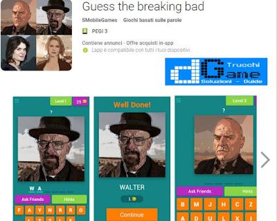 Soluzioni Guess the breaking bad | Tutti i livelli risolti con screenshot soluzione