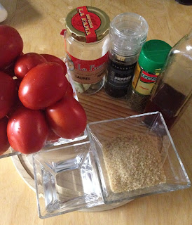 Tomates confitados, ingredientes