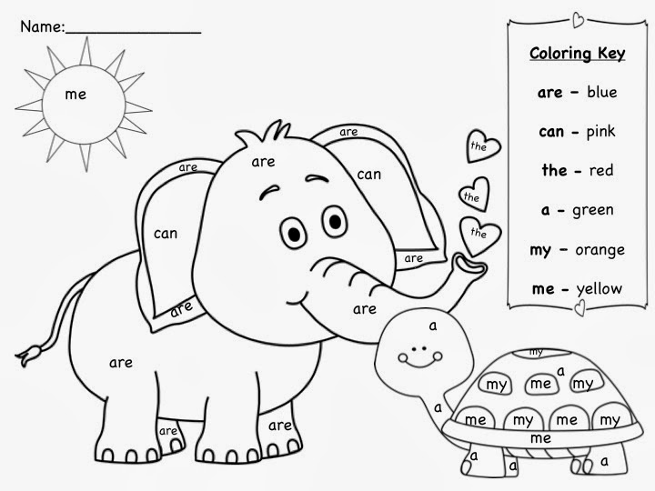 Kinder Learning Garden: March Sight Words Freebie |Sight Word Coloring Page Chameleon