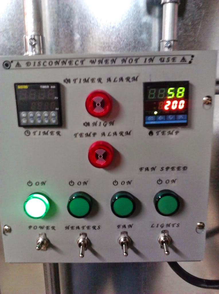 powder coating oven build control box