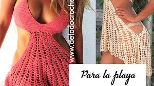 Vestido Sexy para la Playa / Paso a paso Crochet