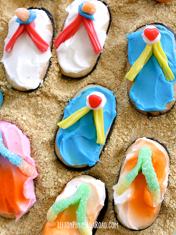 Frosted Flip Flops Cookie Treats Left On Peninsula Road