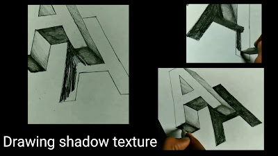 How to draw shadow A, easy to draw shadow, learn to draw 3d letters, easy to draw letter