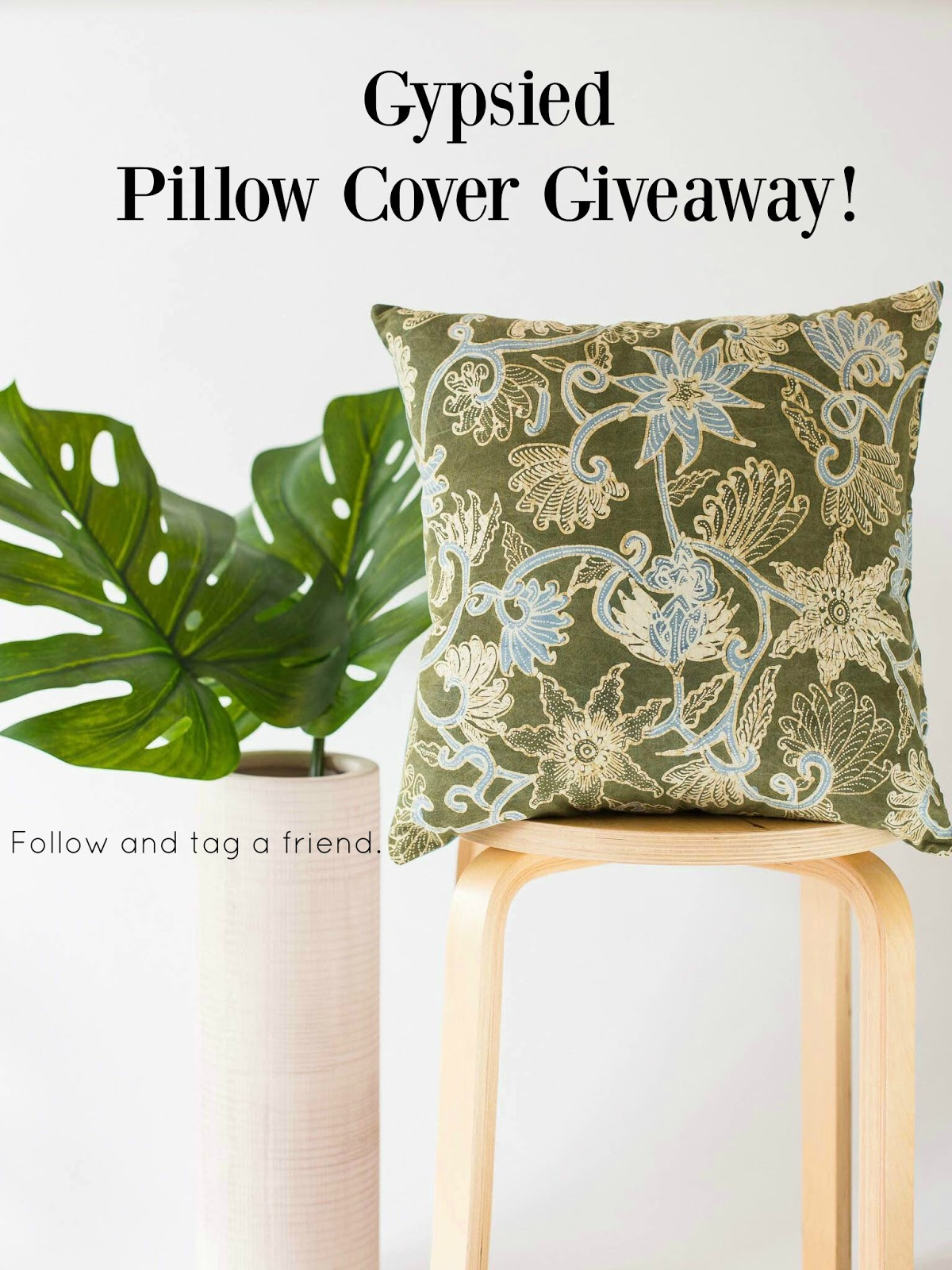 Gypsied pillow cover