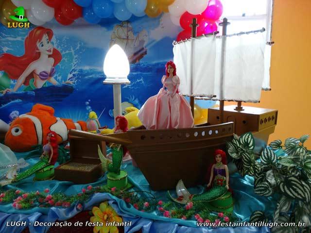 Decoração de aniversário Pequena Sereia - Ariel - Festa infantil