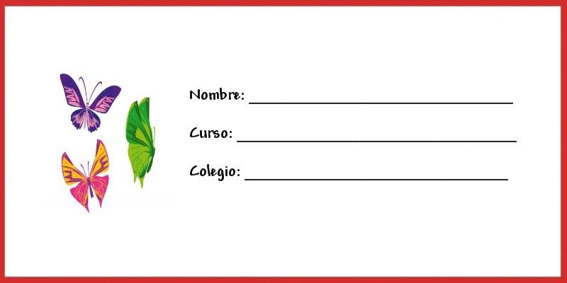 Libreta Viajera Infantil Para Imprimir: Etiquetas Para Poner Nombre A Los Cuadernos Para Imprimir