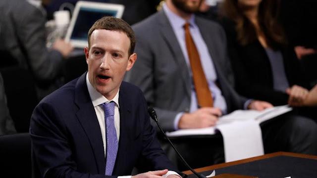 Zuckerberg 'Disidang' Parlemen AS, Saham Facebook Meroket