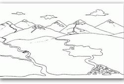 Bild Paisajes Dibujos De Paisajes De Montañas Y Rios Para Colorear