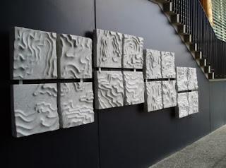 desain Concrete GRC relief motif gelombang di Selandia Baru