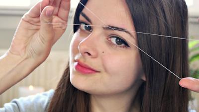how-to-remove-facial-hair-by-thread- الطريقة الصحيحة لإزالة شعر الوجه بالفتلة  (بالفيديو)