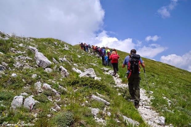 Salendo verso il Monte Porrara